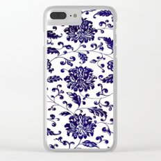 Chinese Floral Pattern Clear iPhone Case