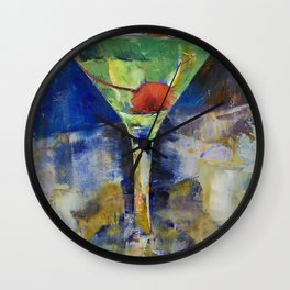 Summer Breeze Martini Wall Clock