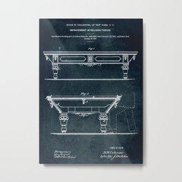 1972 - Improvement in billiard tables Metal Print