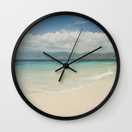 Gili meno island beach Wall Clock