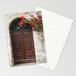 Italian Red Roses Stationery Cards