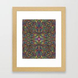 Stained Glas Framed Art Print