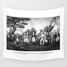The Surrender of General Burgoyne Wall Tapestry