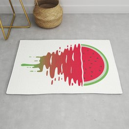 Watermelon Sunset 80s Style Rug