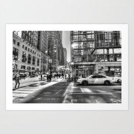 Street Scene New York City Art Print