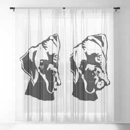DOWNTIME  WITH THE BOXER DOG GIFTS FOR YOU FROM MONOFACES IN 2021 Sheer Curtain