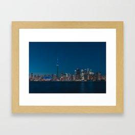 Toronto Blue Framed Art Print