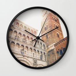 lucques Lucca cathedral san martino duomo Italy tuscany Wall Clock