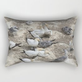 Gannets in a row Rectangular Pillow