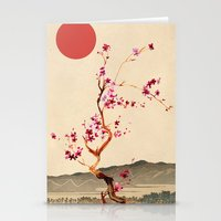sakura Stationery Cards featuring Sakura by Ned & Ems