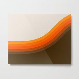 Golden Horizon Diptych - Right Side Metal Print