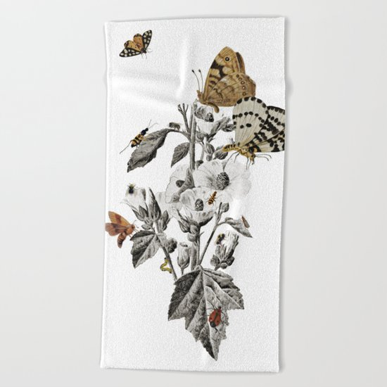Insect Toile Beach Towel