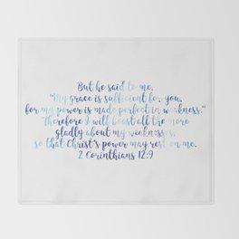 2 Corinthians 12:9 Throw Blanket