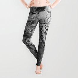White: Paint Leggings
