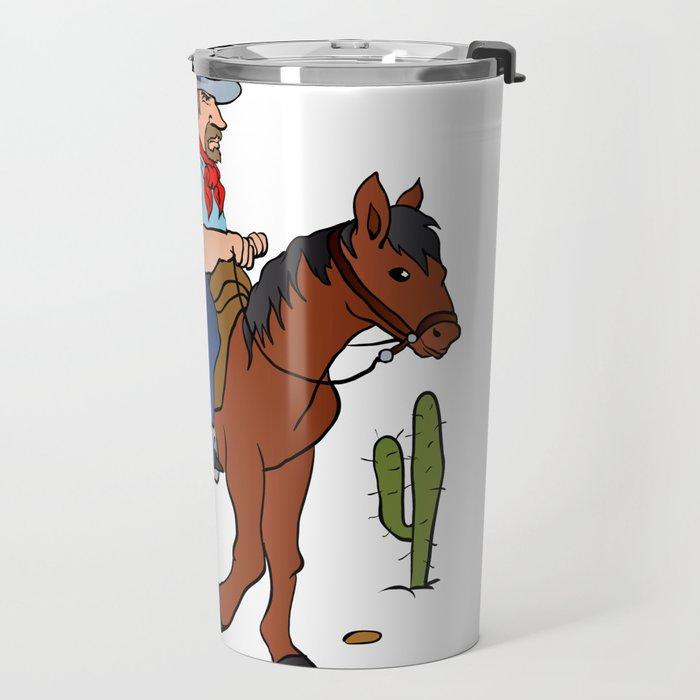 Cowboy on the horse Travel Mug