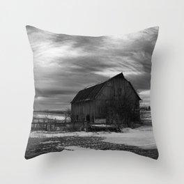 The Sun Sets on a Centralia, Iowa Farm Throw Pillow