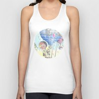 hot air balloon Tank Tops featuring Hot air balloon party by Dreamy Me