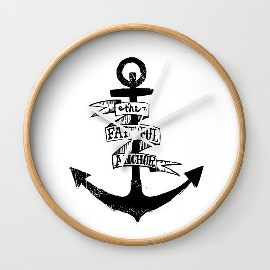 The Faithful Anchor Wall Clock