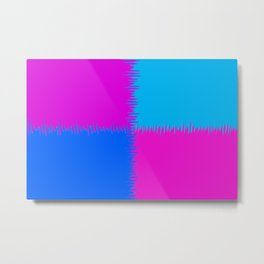 QUARTERS #1 (Blue, Purples & Fuchsias) Metal Print