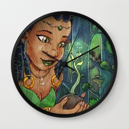 Earth Maiden Wall Clock