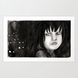 Behind You Art Print