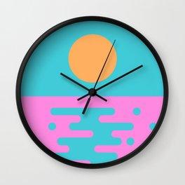 Paradise Sunset II Wall Clock