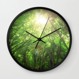 Endless Green Forest of Dreams Wall Clock