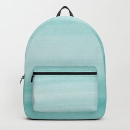 Touching Aqua Blue Watercolor Abstract #2 #painting #decor #art #society6 Backpack