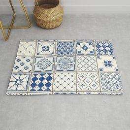 Blue Ceramic Tiles Rug