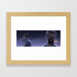 Lapsis - Rain and Smoke Framed Art Print