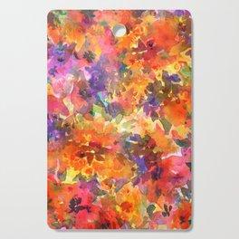 Orange Wildflower Patch Cutting Board