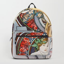 """Alphonse Mucha """"Girl With Easel"""" Backpack"""