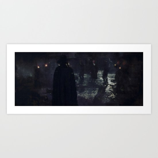 Beneath the mask Art Print