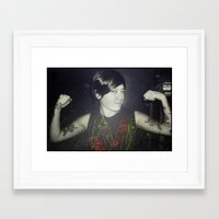 tegan and sara Framed Art Prints featuring Tegan by Virginie Le Guen-Bertheaume