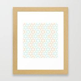 Star Of David Pattern  #society6 #decor #buyart #artprint Framed Art Print