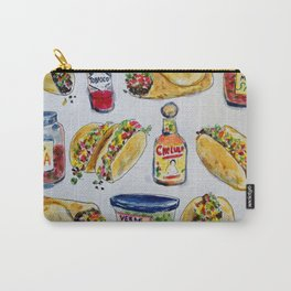 tacos burritos hot sauce and salsa Carry-All Pouch