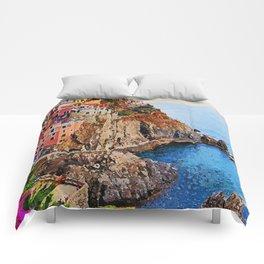 Italy, Cinque Terre Comforters