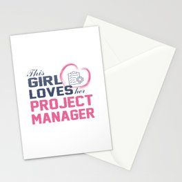 Loves Her Project Manager Stationery Cards