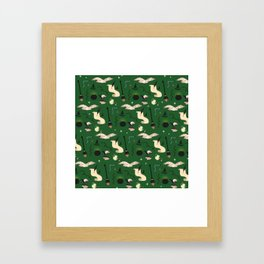 Slytherin Pattern Framed Art Print