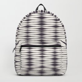 Seamless vector pattern. Modern geometric hand drawn woven tie dye style. Backpack
