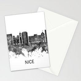 Nice France Skyline BW Stationery Cards