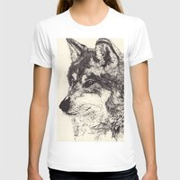 wolves T-shirts featuring Wolves by Maria Gabriela Arevalo Reggeti