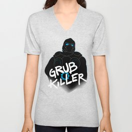 Grub Killer (Blue) Unisex V-Neck