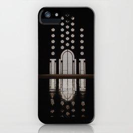 Islamic Architecture Inside Mausoleum Window Geometric Pattern Silhouette Mysterious iPhone Case