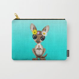 Cute Baby Kangaroo Hippie Carry-All Pouch