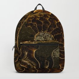 Earth treasures - Dark and light brown fossil Backpack