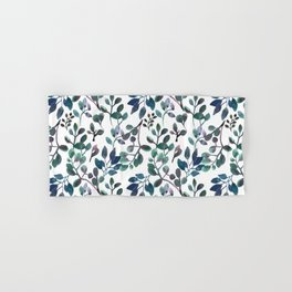 Jade and Succulent Watercolor Plant Pattern Hand & Bath Towel