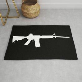 AR-15 (on black) Rug
