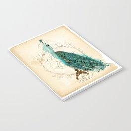 Peacock bustle mannequin Notebook