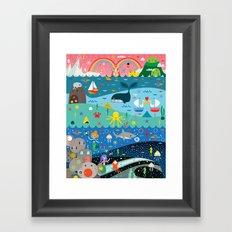 Underwater Cosmos Framed Art Print